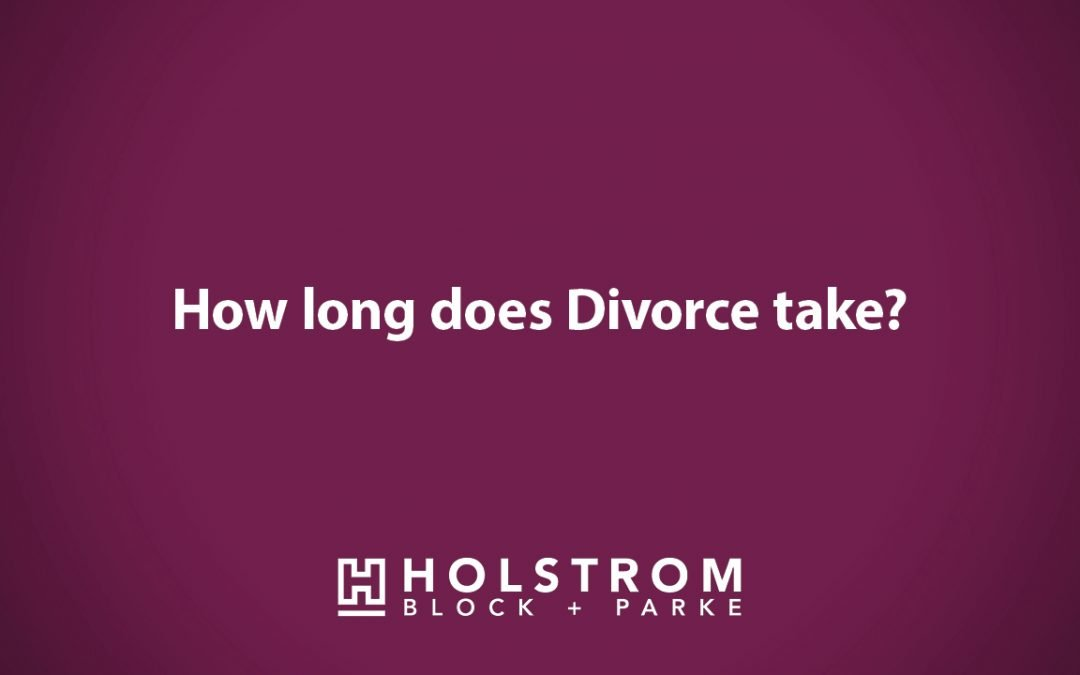 How long does a divorce take?