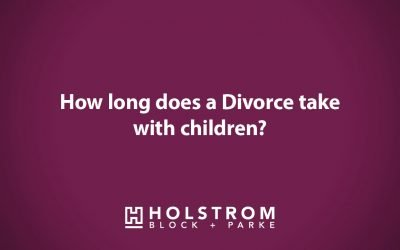 How long does a divorce take with children?