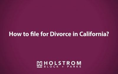 How to file for divorce in California?